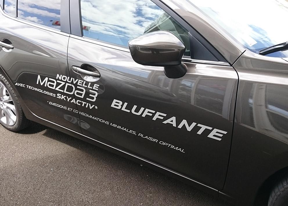 Marquage véhicule Mazda3