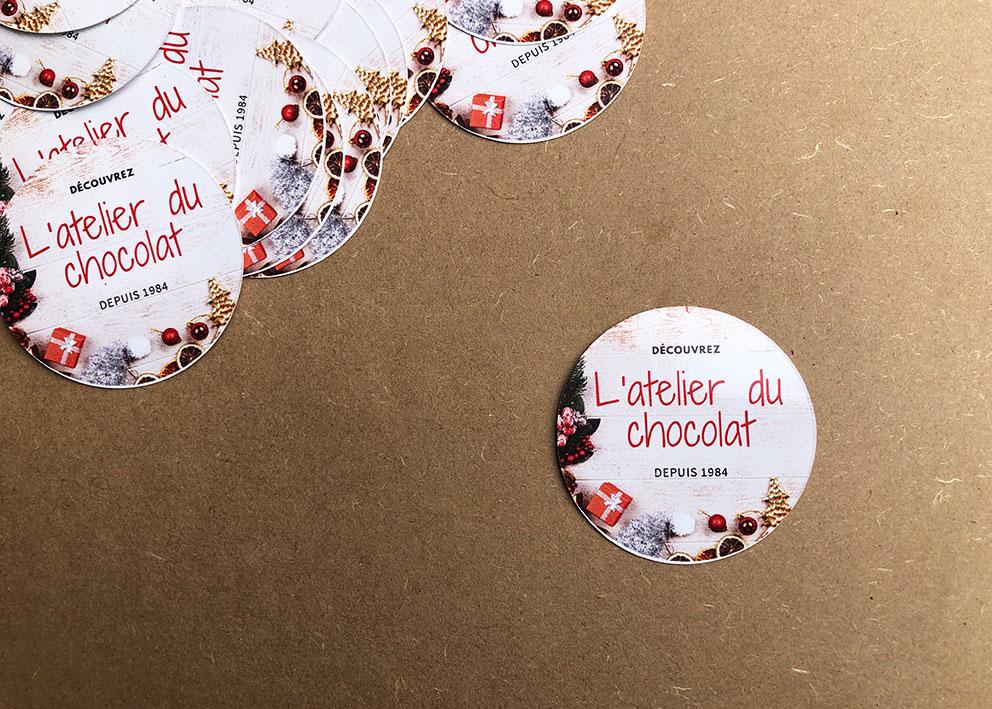 Stickers en ligne atelier du chocolat