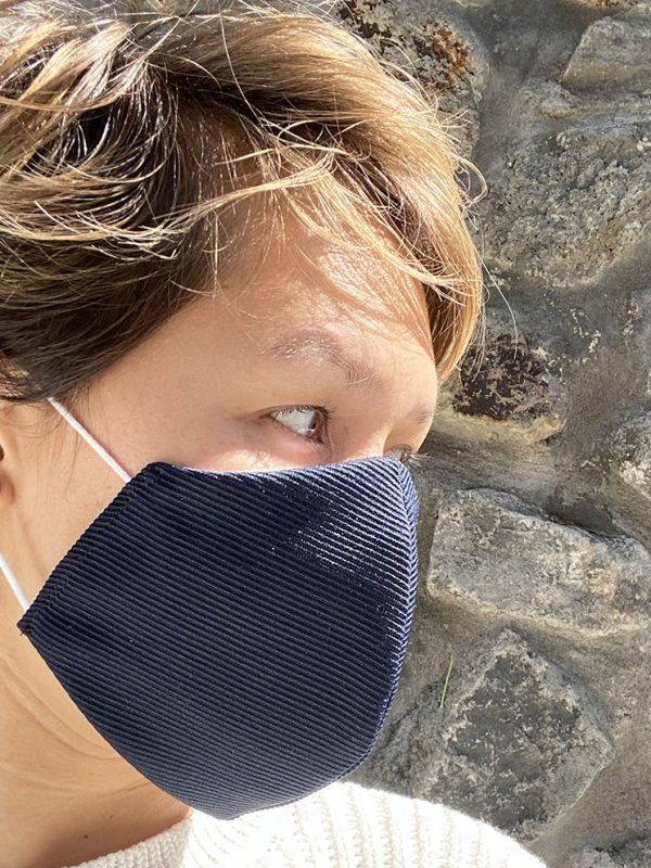 Masque bleu marine texturé simple