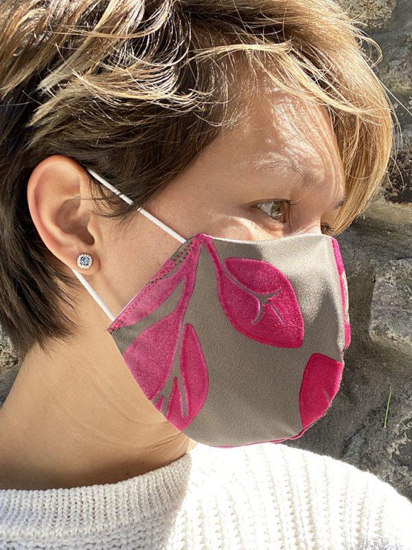 Masque kaki fushia