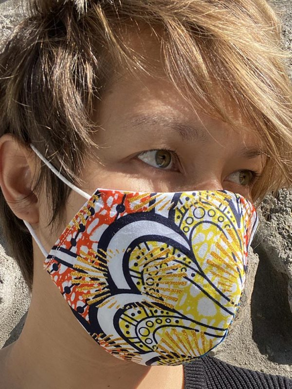 Masque multi couleur bleu jaune