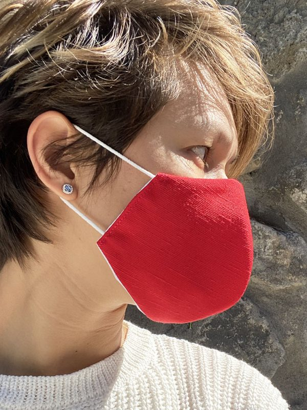 Masque rouge texture