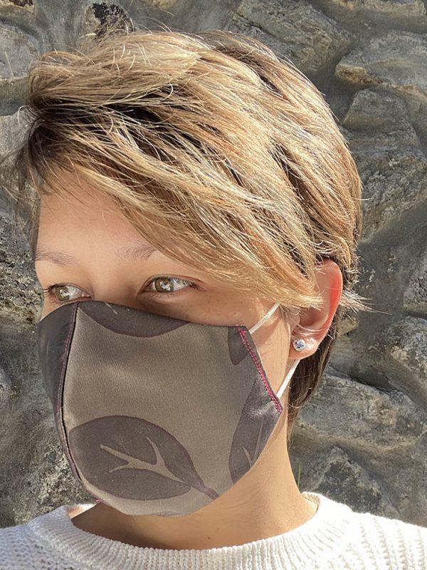 masque Kaki feuille